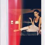 Selena Gomez lounged on a kitchen counter. Source: Instagram user selenagomez