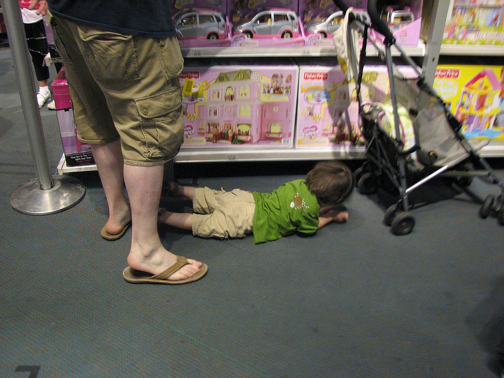 Why do they lie on the floor in public places?