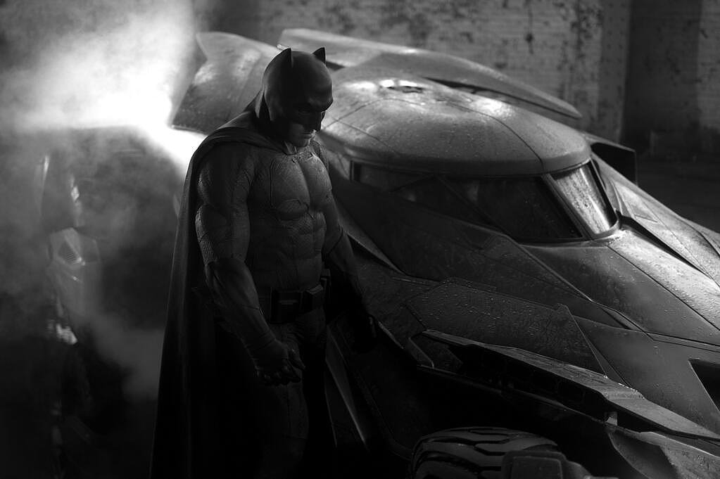 First, we got this peek at a brooding Batman (Ben Affleck) from