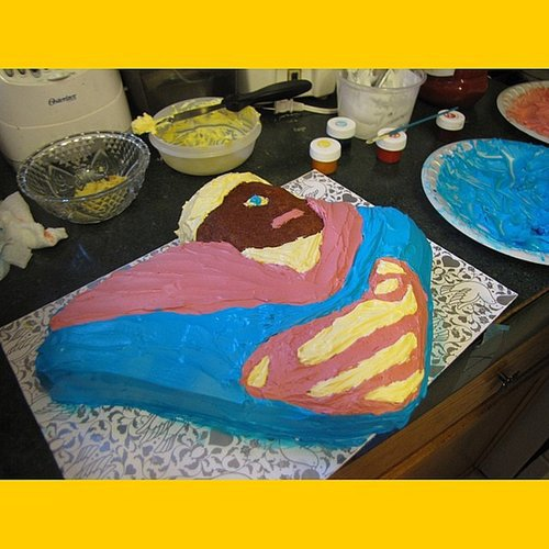 When Your Kid Wants a Chocolate Superman Cake