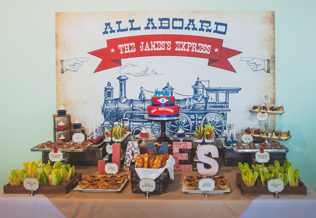 All Aboard This Adorable Vintage-Train Party