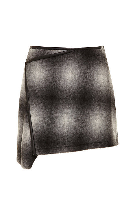 10 Crosby Derek Lam Plaid Asymmetric Skirt