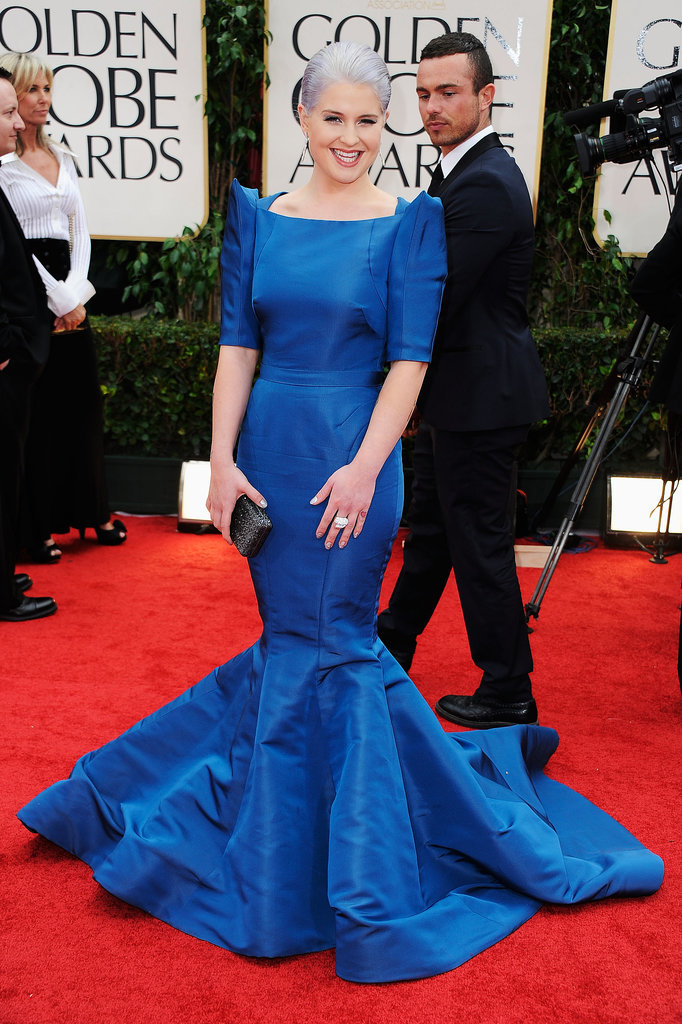 Kelly Osbourne turned heads in this boxy, sharp-shouldered dress by Zac Posen at the Golden Globes in 2012. Kelly's style just keeps getting better and better!
