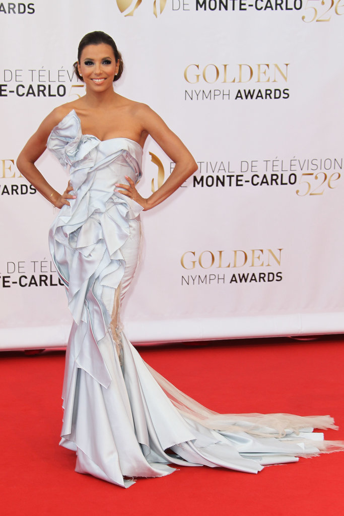 "Another day, another mermaid dress. Eva Longoria chose this exquisite Marchese ""origami"" dress at the Golden Nymph Awards in 2012."