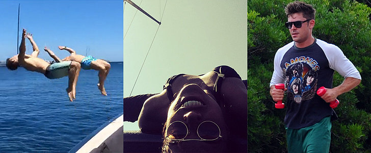 Zac Efron and Michelle Rodriguez Are Having the Most Active Vacation Ever