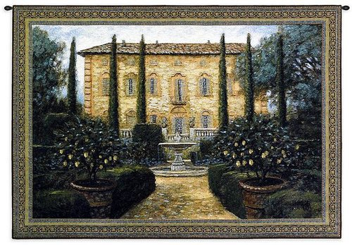 "Pci ""italian villa"" tapestry wall decor"