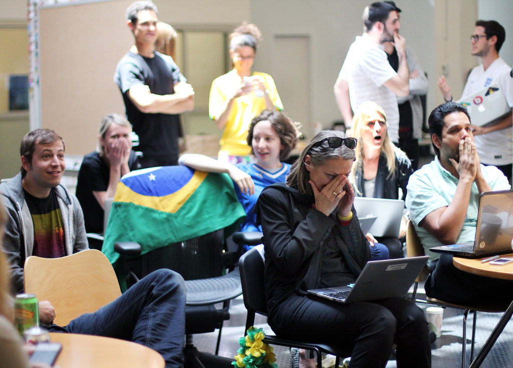 Everyone in the room felt bad for Brazil after Germany's unrelenting goals.
