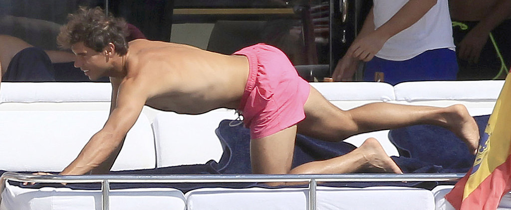 Shirtless Rafael Nadal Doesn't Seem Too Upset by His Wimbledon Loss