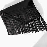 Zara Fringed Clutch