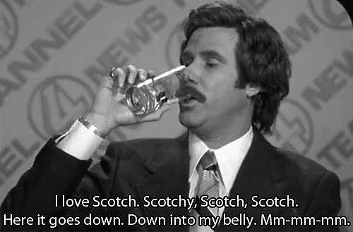 When Ron Celebrates His Favorite Beverage