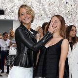 Emma Watson and Jennifer Lawrence at Dior Couture Show