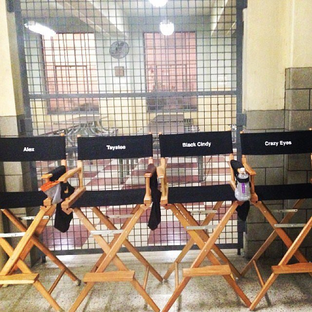 The chairs were all lined up and ready to be sat in for season three! Source: Instagram user uzoaduba