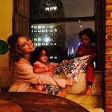 Mariah Carey calmed her kids, Monroe and Moroccan, during an NYC thunderstorm.   Source: Instagram user mariahcarey