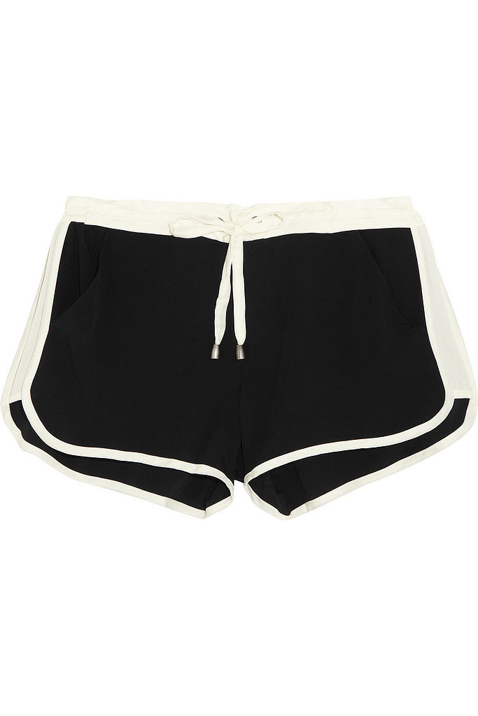 Splendid satin-jersey shorts ($95)