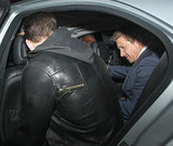 Jeremy Renner and Chris Evans at Chiltern Firehouse