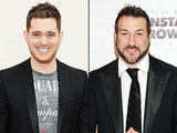 "Michael Buble Sings, Dances With Son to 'N Sync's ""Tearin' Up My Heart"" for Joey Fatone"