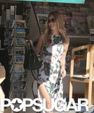 Rosie Huntington-Whiteley was all smiles at a newsstand in Malibu, CA, on Friday.