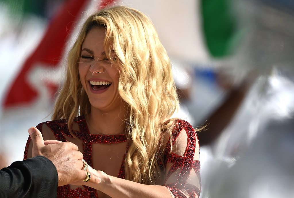 Shakira cracked up during the World Cup final.