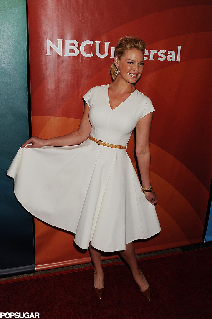Katherine Heigl brought high energy to the red carpet at NBC's Television Critics Association event at the Beverly Hilton Hotel in LA on Sunday.