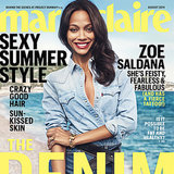 Zoe Saldana Interview in Marie Claire August 2014