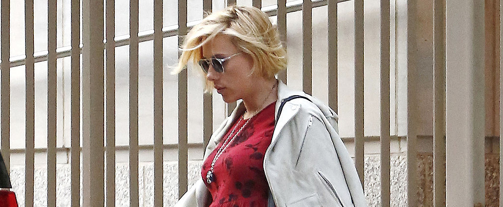 Scarlett Johansson Brings Her Baby Bump Back Home