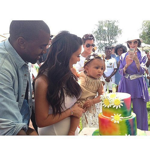 Kim Kardashian and Kanye West celebrated daughter North's first birthday with a kid-friendly take on Coachella (which her father headlined in 2011).  Source: Instagram user kimkardashian