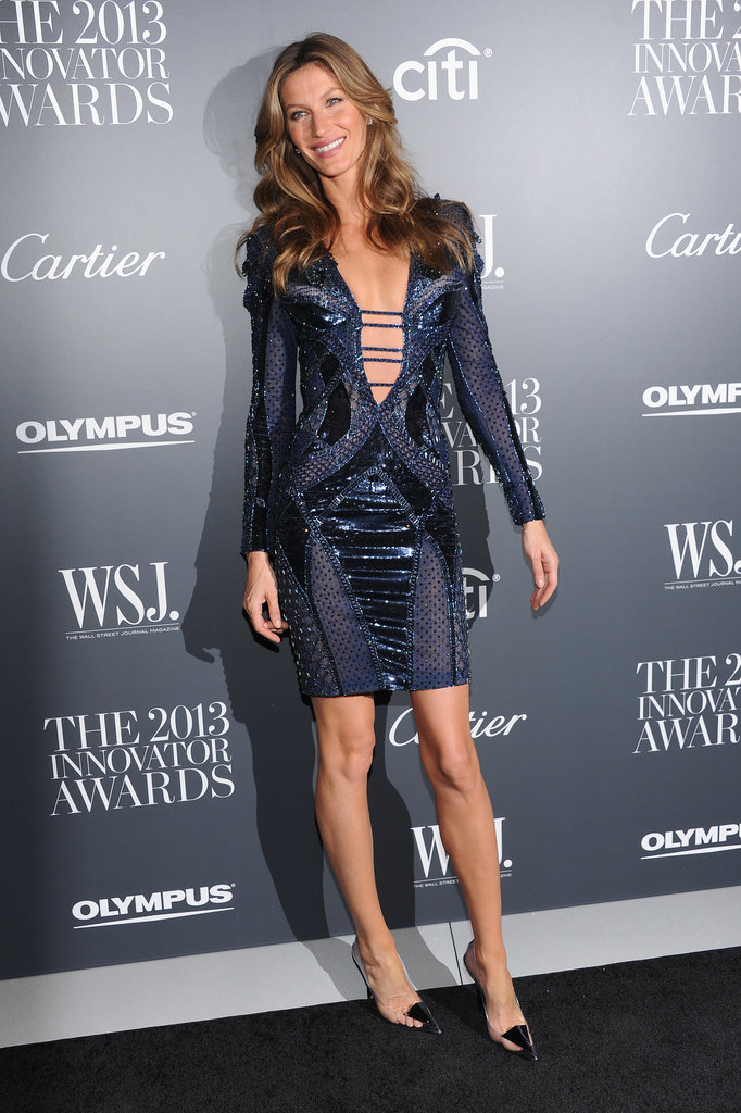 Gisele Bündchen in Atelier Versace at a 2013 WSJ Magazine Party
