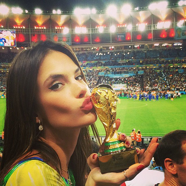 Alessandra Ambrosio showed her World Cup spirit. Source: Instagram user alessandraambrosio