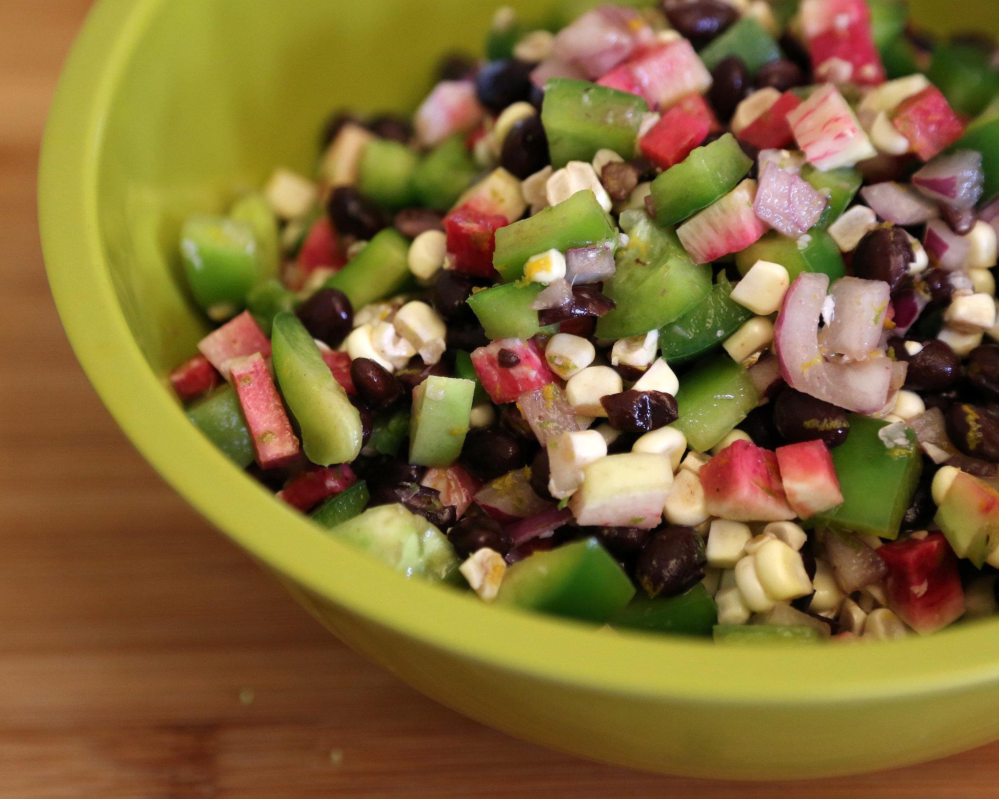 no-cook black-bean salad uses fresh Summer produce and pairs citrus ...