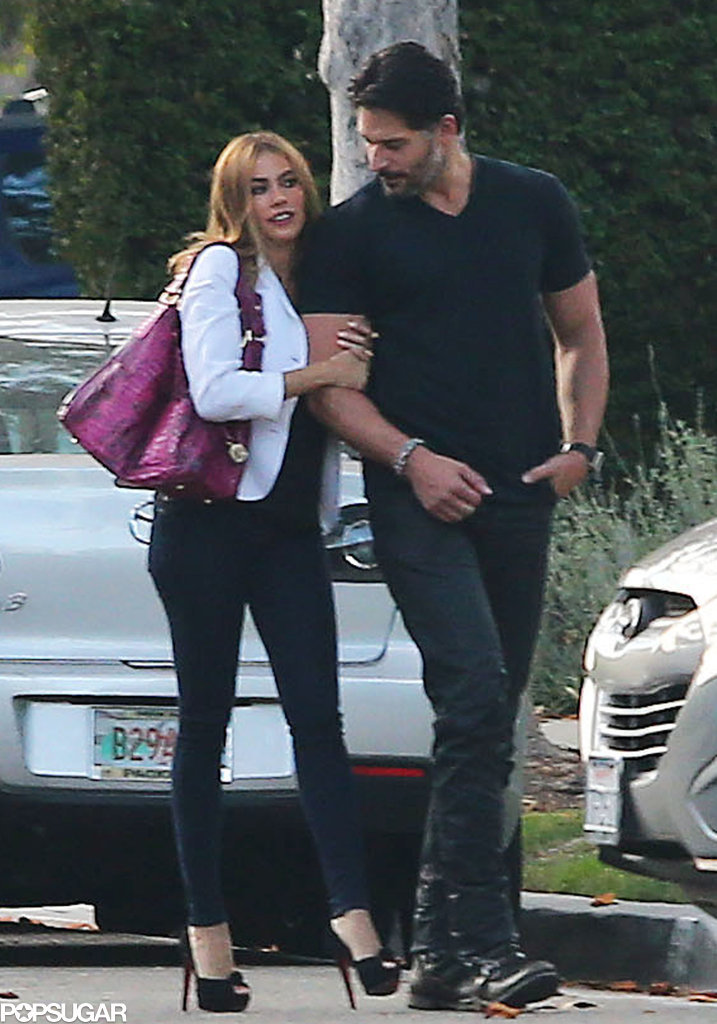 On Friday, Sofia held Joe's arm during their walk.