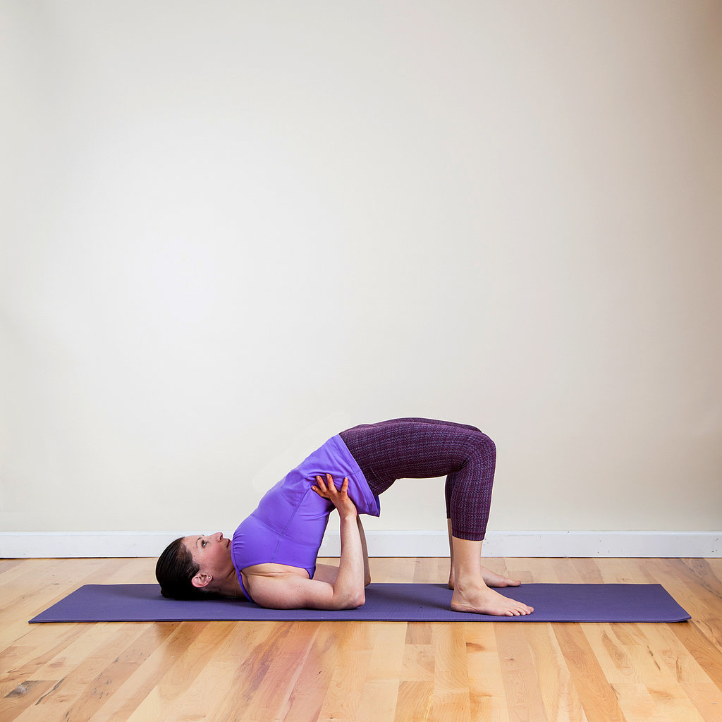 Sanskrit name setu bandha sarvangasana for Floor yoga stretches