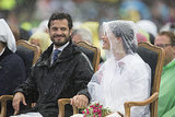 In July 2014, he and Sofia Hellqvist braved the rain at a concert for Crown Princess Victoria's birthday celebration.