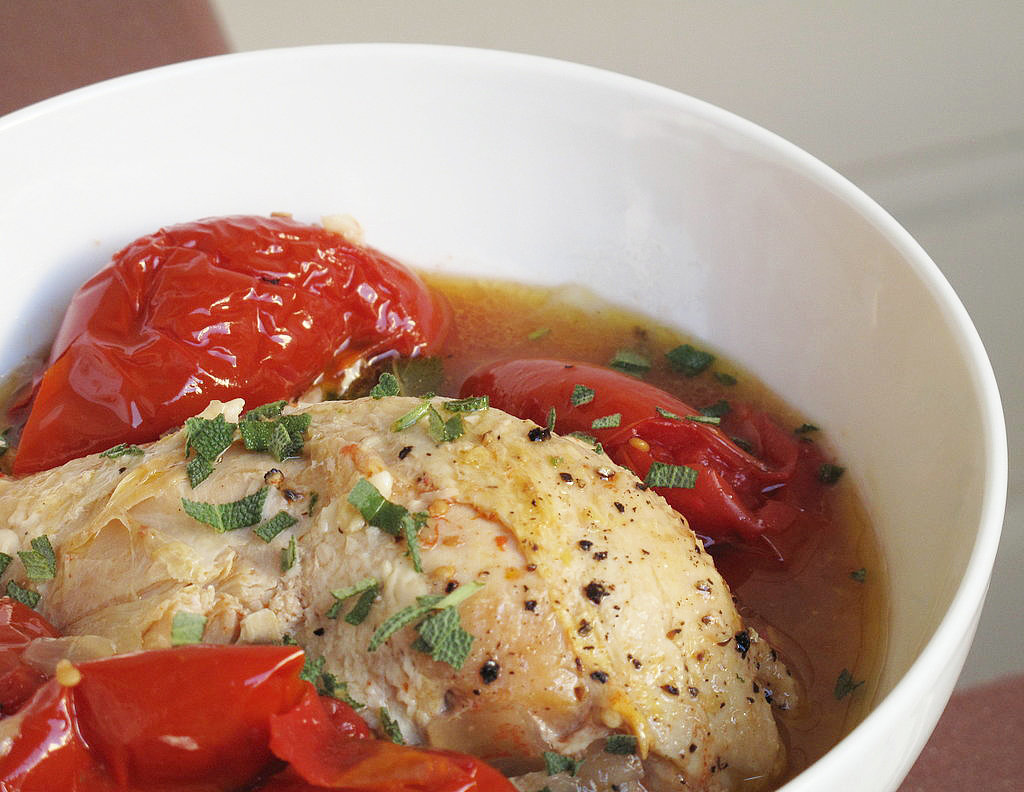 Slow Cooker Recipe For Braised Chicken With Summer Tomatoes | POPSUGAR ...
