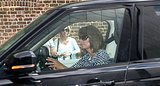 Carole Middleton drove into Kensington Palace.