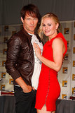 Cute couple Stephen Moyer and Anna Paquin posed together before the True Blood event in 2011.