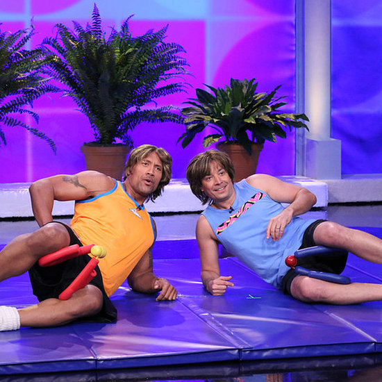 Dwayne Johnson and Jimmy Fallon Parody '80s Workout Videos