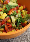 Pineapple, Mango, and Jalapeño Salsa