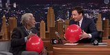 Morgan Freeman And Jimmy Fallon Talking On Helium Will Make Your Day