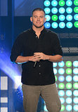 Channing Tatum smirked on stage at the MTVu Fandom Awards on Thursday.