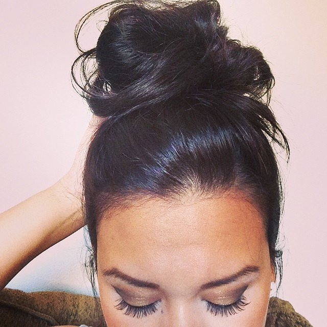 When this becomes your go-to hairdo.