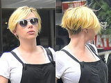 Very Pregnant Scarlett Johansson Debuts Very Short, Very Blonde New Haircut