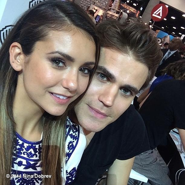 She took this photo with her Vampire Diares costar Paul Wesley, so maybe she's dating Paul Wesley?