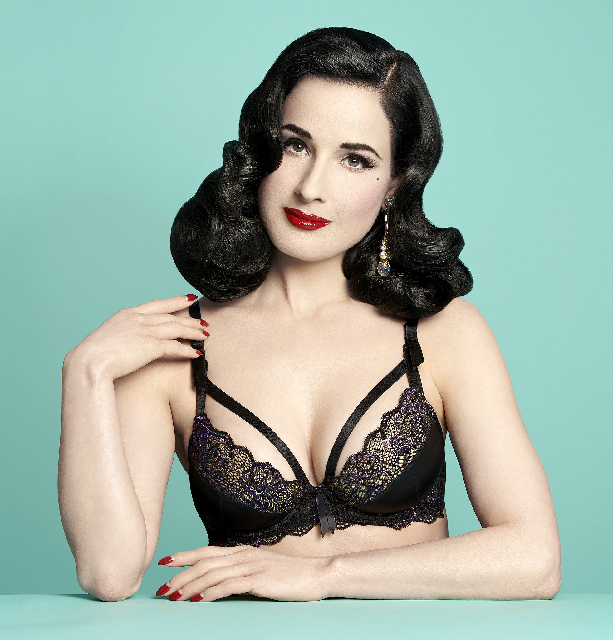 Dita Von Teese Launches Nursing Bra Collection | POPSUGAR Moms Dita Von Teese