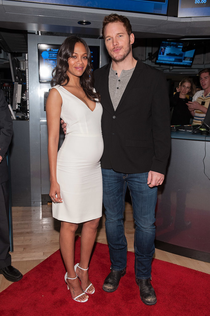 Zoe Saldana and Chris Pratt