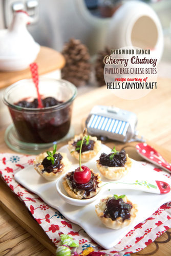 Hells Canyon Cherry Chutney Phyllo Brie Bites