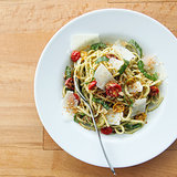 Pasta With Pesto and Roasted Tomatoes Recipe