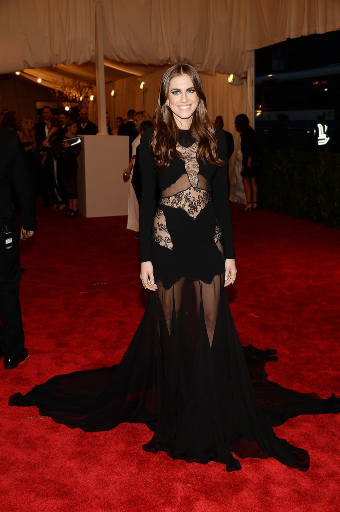 At the 2013 Met Gala, Allison showed off her inner rebel with a dramatic Altuzarra dress that included lace and sheer panels.