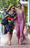 Jennifer Lopez and her friend Leah Remini paired up to shop at Fred Segal in LA on Wednesday.
