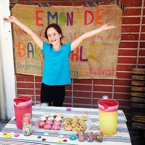 Soleil Moon Frye's daughter Poet sold lemonade, cookies, and cupcakes to help save the rainforest.   Source: Instagram user moonfrye