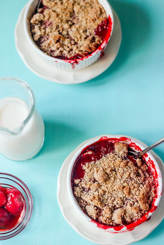Individual Strawberry Crumbles